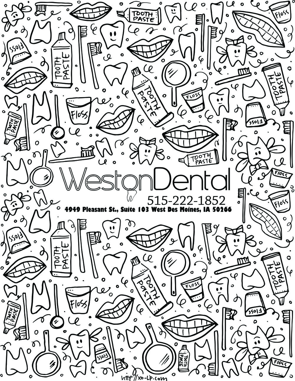 Weston Dental Waiting Room Coloring Page