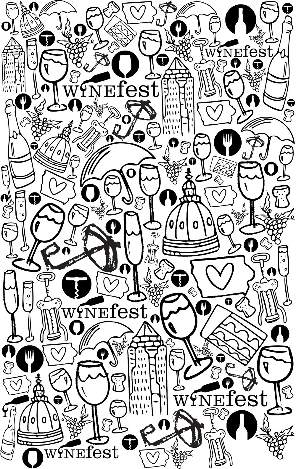 Coloring pages for restaurants - Winefest Jpg