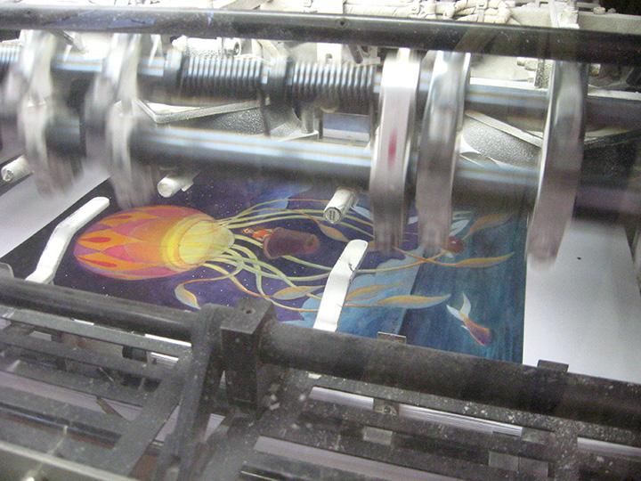 The printer- running