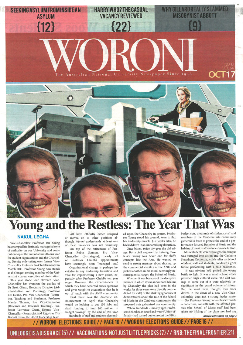 Woroni cover, October 2012