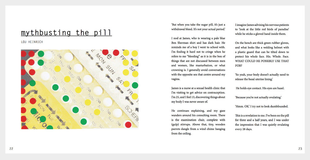 Extract from Mythbusting the Pill by Lou Heinrich, Lip Mag July 2014