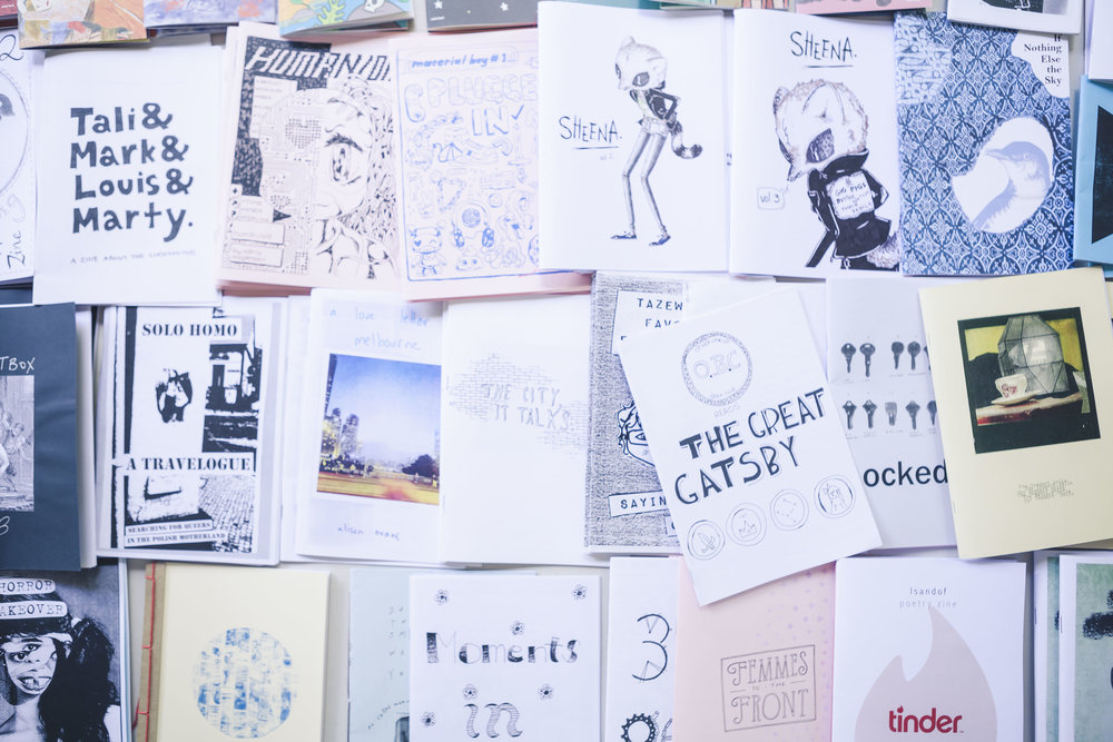 Shot of Sticky Institute stall at Noted's Independent Publishing Fair. Image: Dream Pieces.