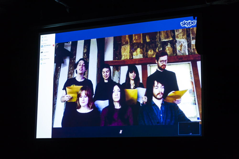 A Morning/ Evening in Norwich/ Canberra live streamed event connecting two cities, curated by Jacinta Mulders. Image: Dream Pieces