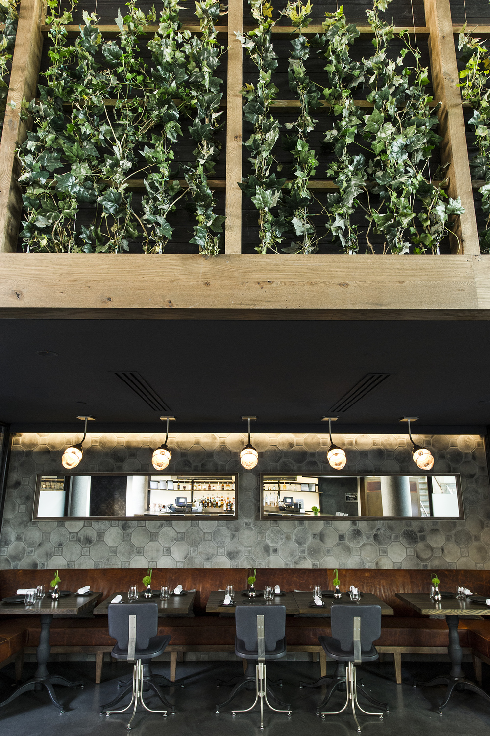 DINING + VINE WALL