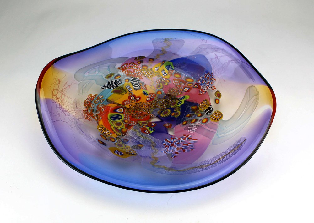 Colorfield Platter   Large pieces designed to embellish a table setting or mount on the wall.