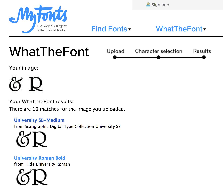 WhatTheFont — Weston Happ