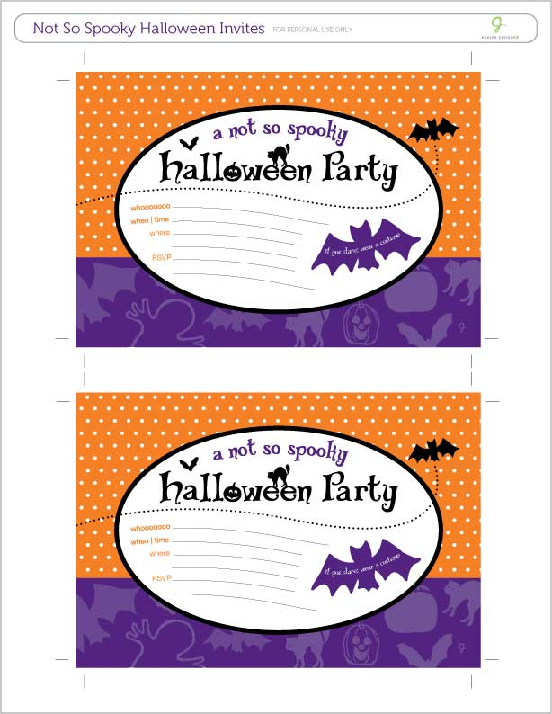 a-not-so-spooky Halloween invite freebie from J. Bohler Designs