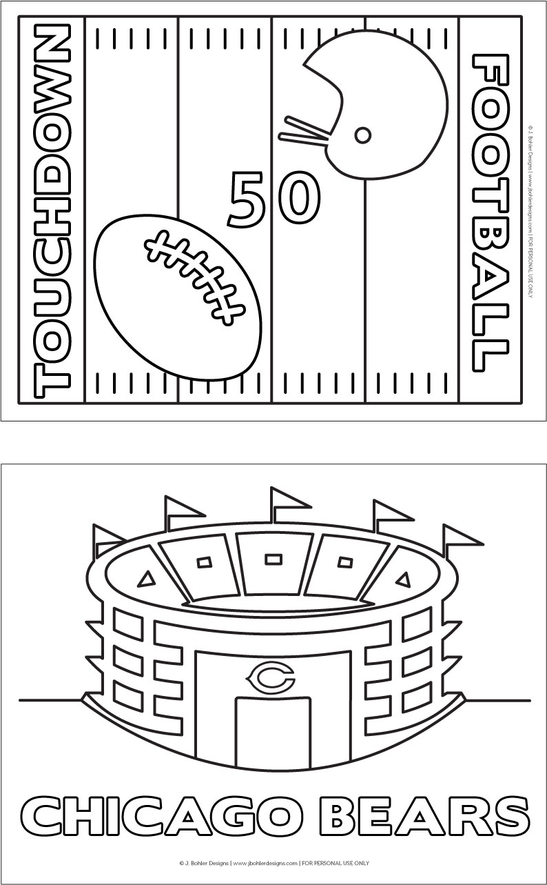 Football Coloring Pages from J. Bohler Designs