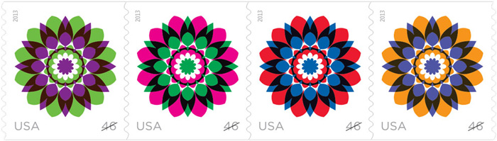 USPS 2013 Kaleidoscopes Flower Stamps