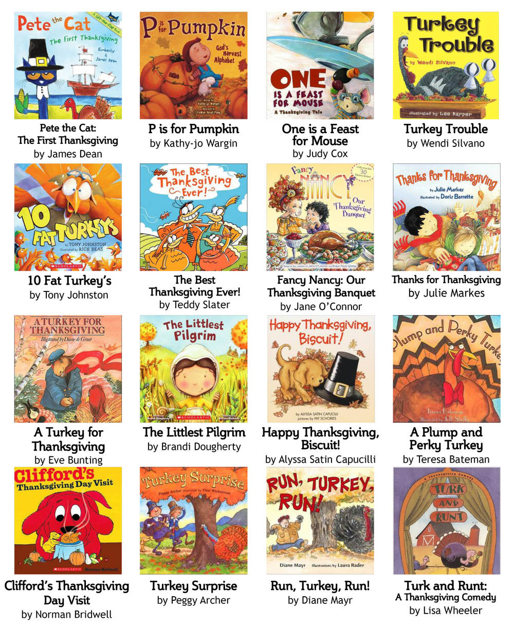 Thanksgiving picture books for the children!