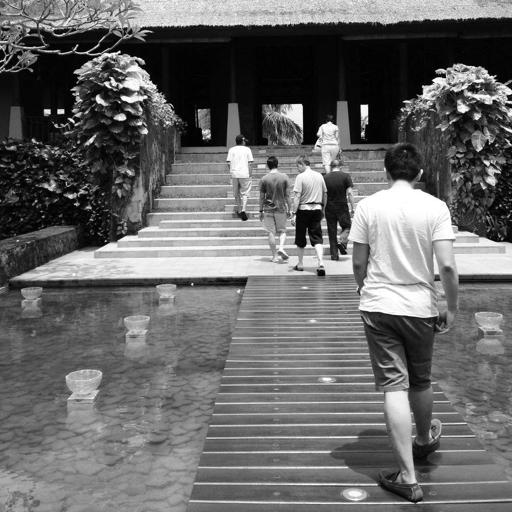 My mom and dad, hubby and family friends at Villa Maya, Ubud