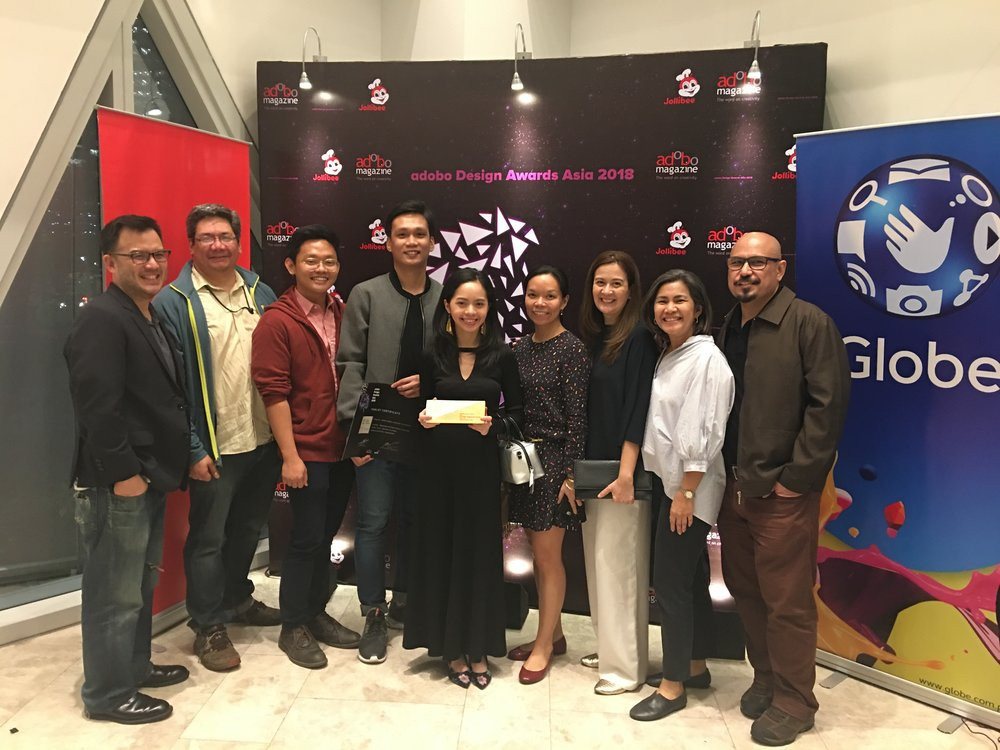 Natalie Ampil and Rico Ireneo with some MINT faculty and admin.