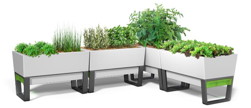 Glowpear Self Watering Pots Unique White Planter Boxes