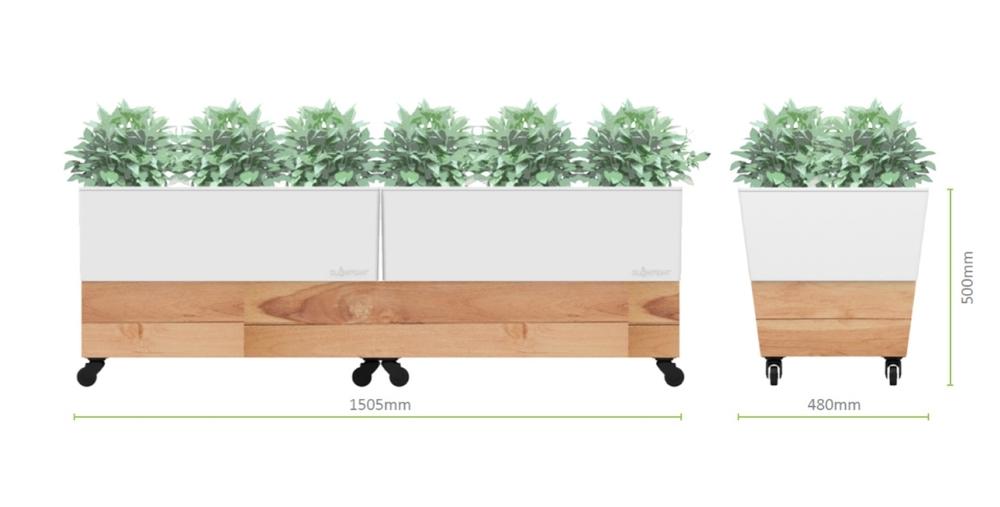 café planter, commercial planter, commercial pot, wheel planter, wheel pot
