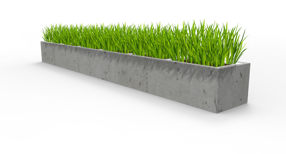 concrete planter, concrete self watering planter