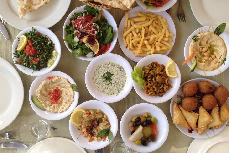 A meal we had after a field trip to Ajloun Castle.