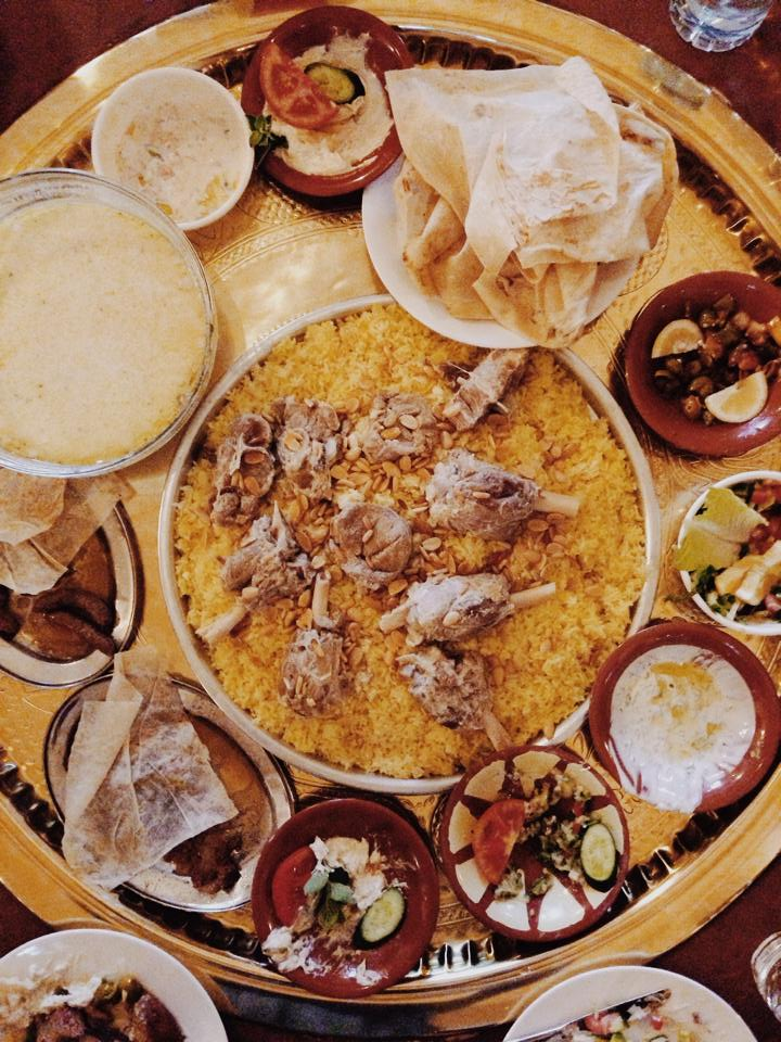 Mansaf - Jordan's national dish, a rice dish with lamb and yoghurt.
