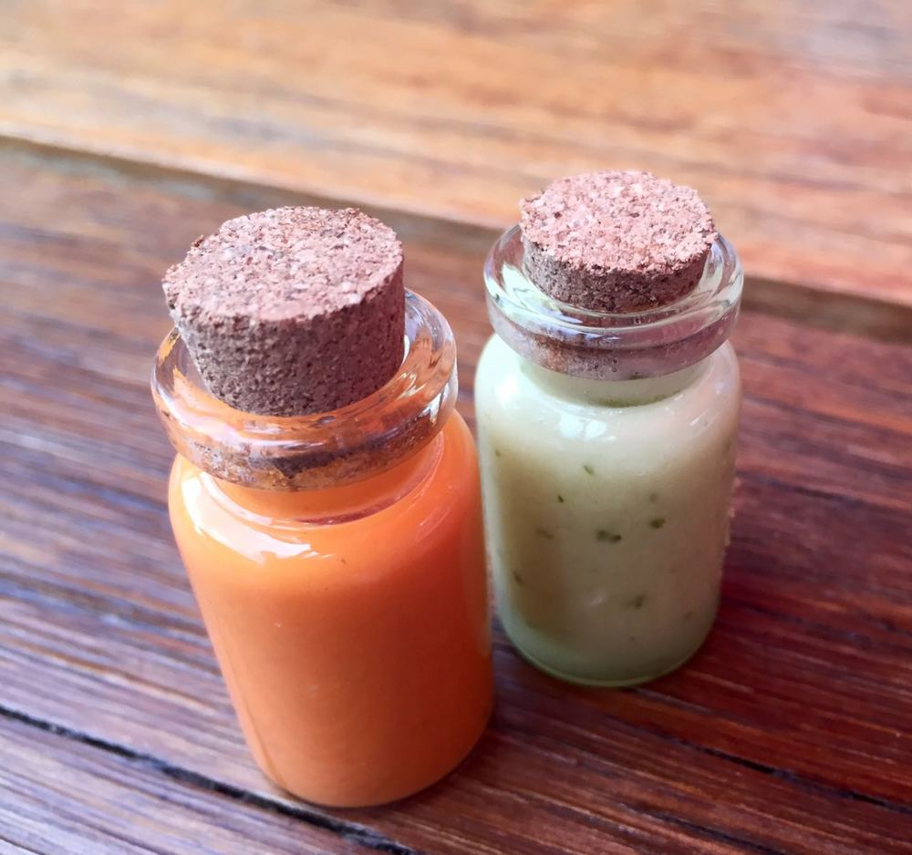 The most gorgeous mini sauce bottles ever seen