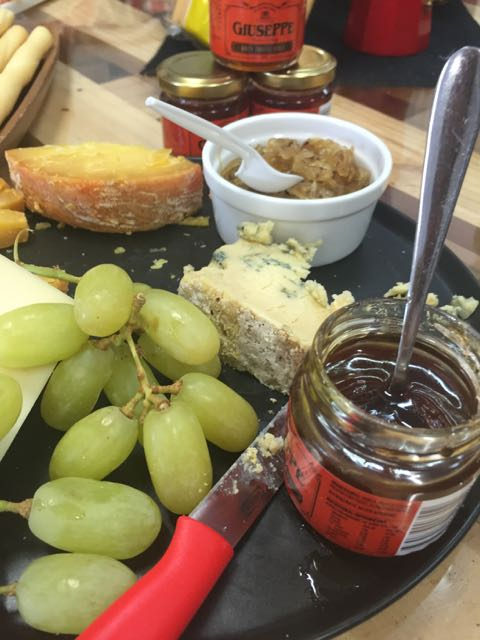 Apologise for the half eaten display, but.... delicious sharp tasting cheese which match with the sweet truffle honey.