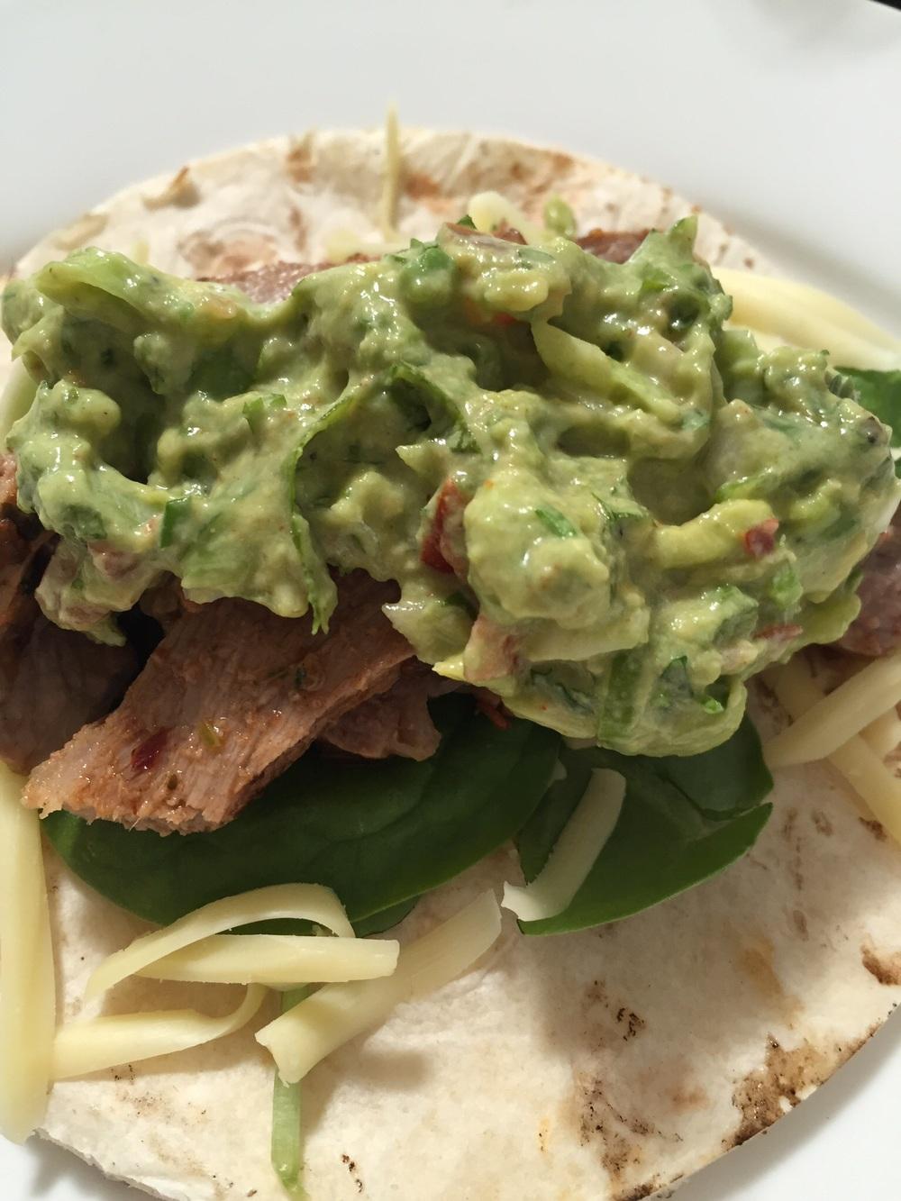 Soft taco - both delicious
