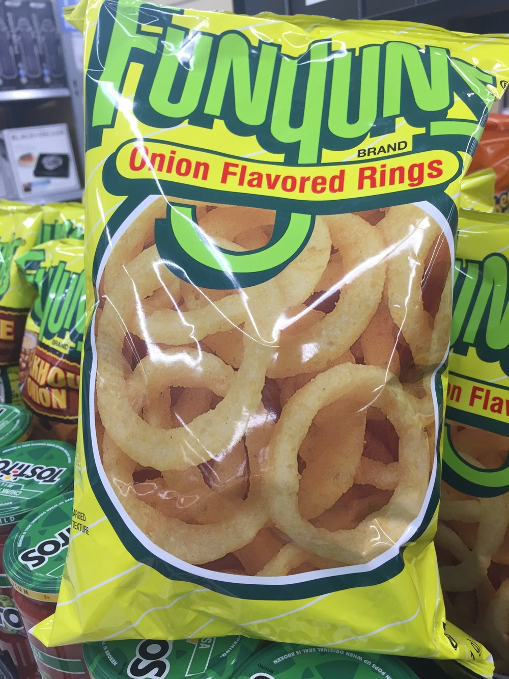 Favorite snack of choice for Mr C, I cannot imagine an onion went anywhere near production.