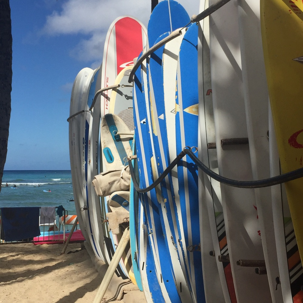Boards at Waikiki