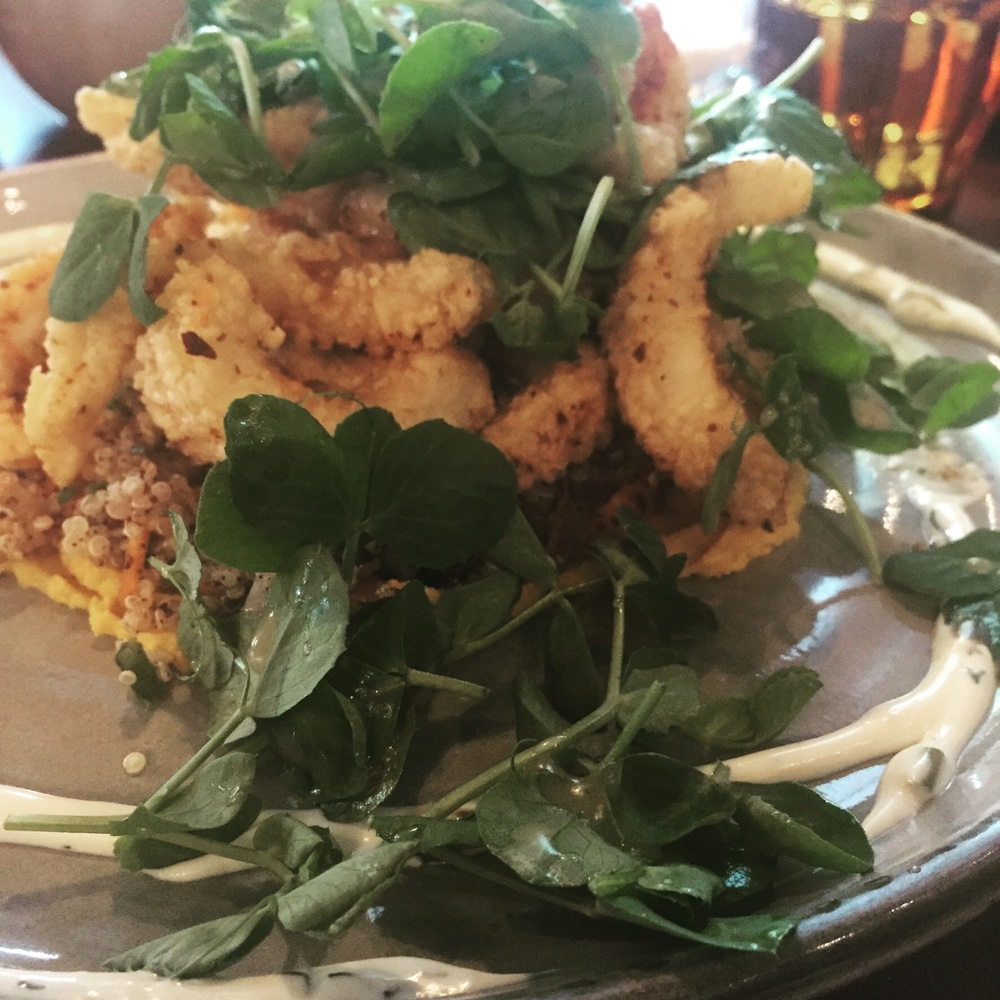 Calamari anyone - lunch with the local food bloggers @ Space, Woden