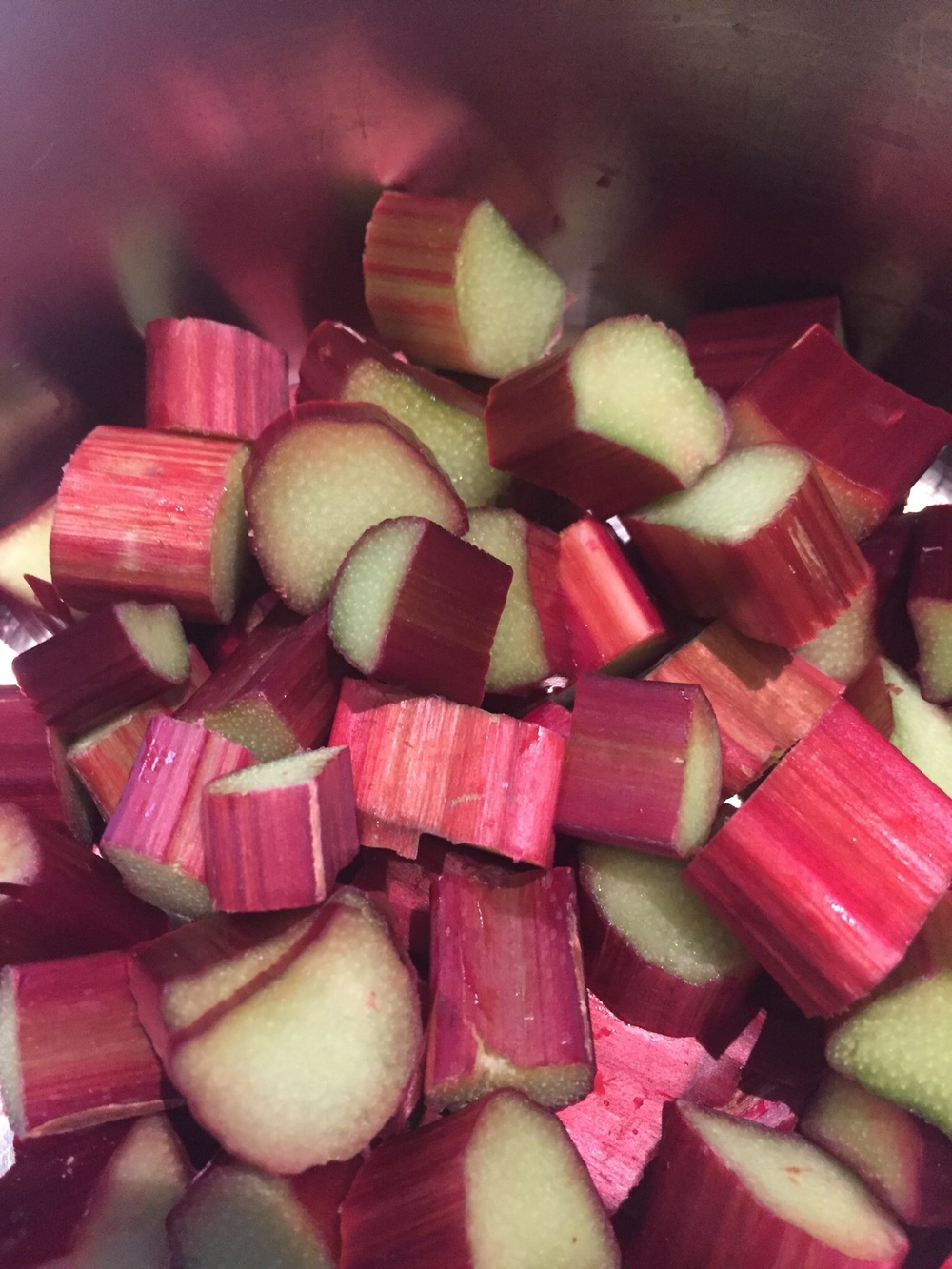 Poached rhubarb for my breakfast