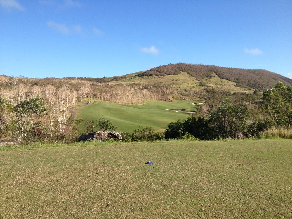 Golf course on the nearby island.