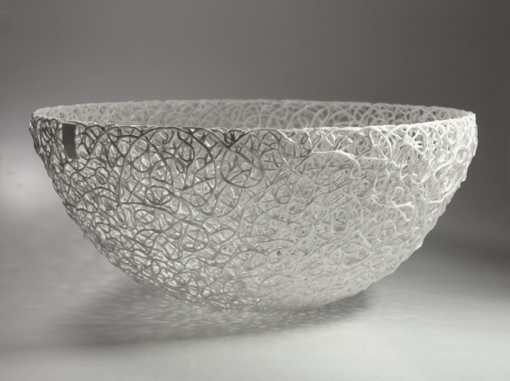 Schale mit klassischem kordelporzellan Muster bowl with classic cordporcelain pattern d 38 cm