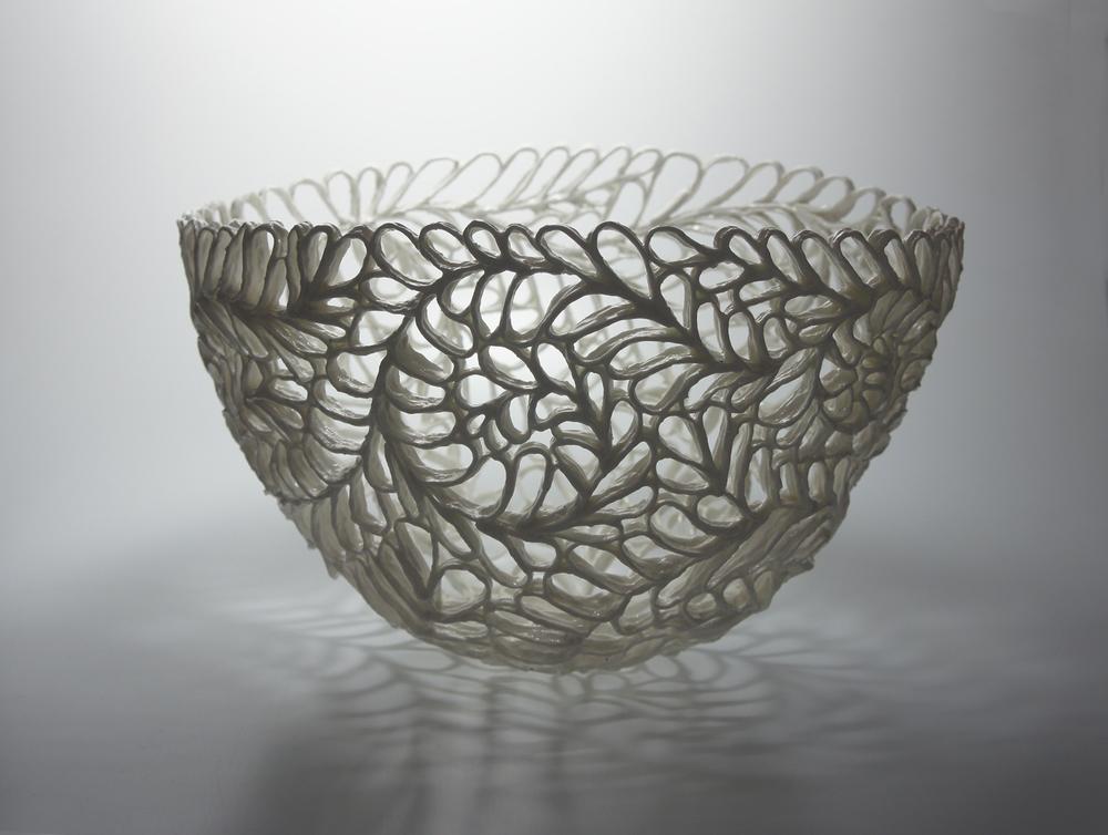 Blattschale leafbowl d 28 cm