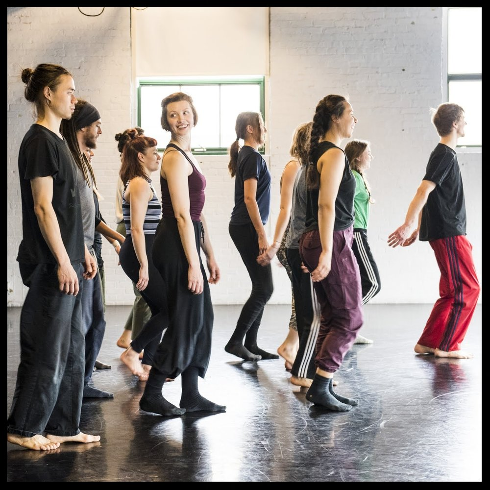 Participants in Kelly Keenan's class for the Toronto Dance Community Love-In. Photo by Omer Yukseker.