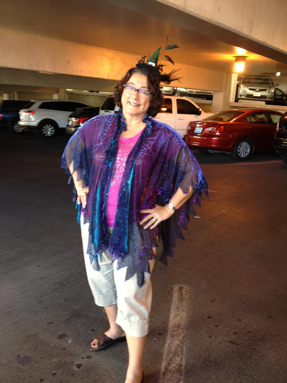 cindy's halloween outfit, minus her light-up pumpkin shirt!