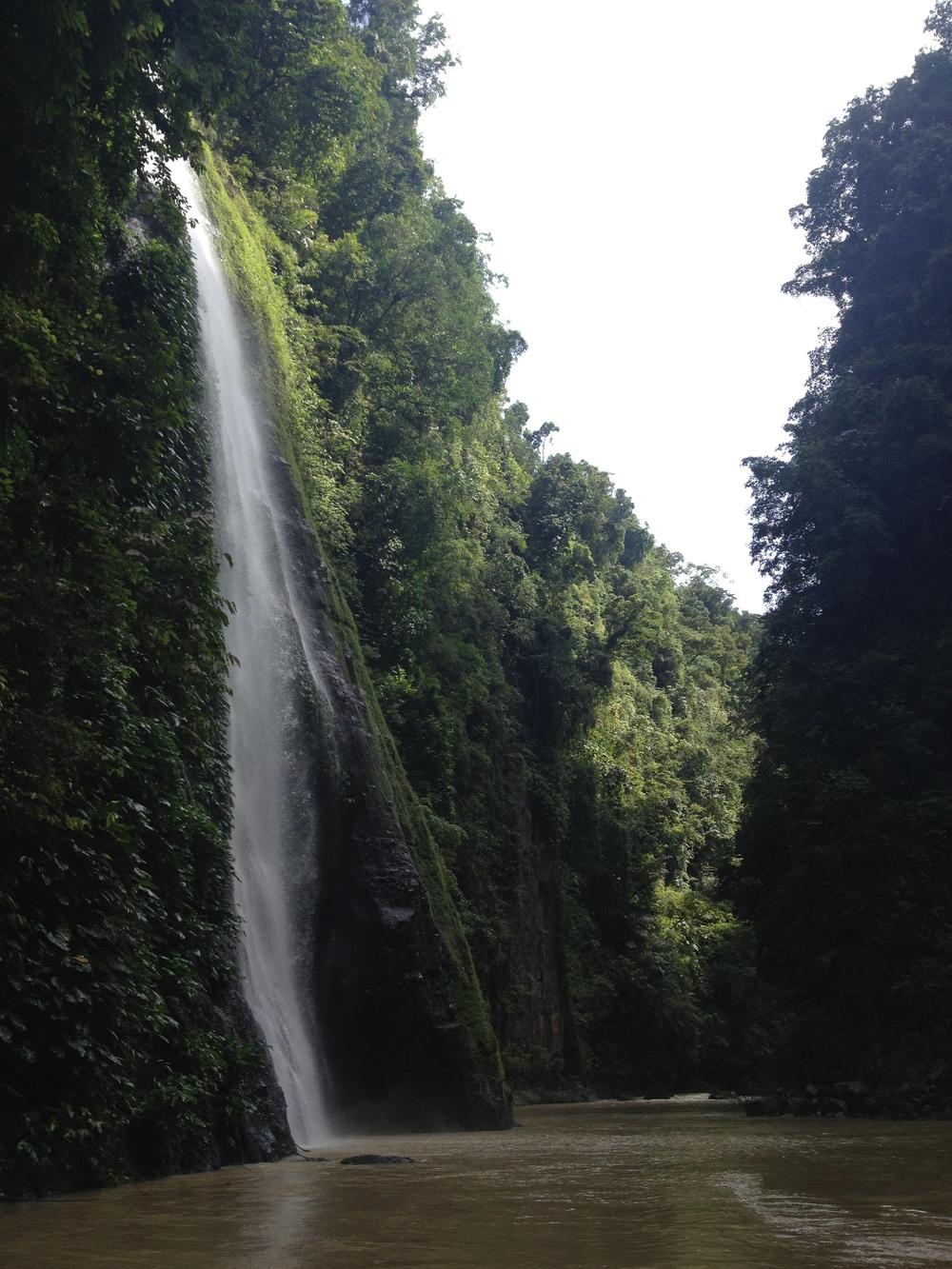 the beautiful talahib falls and pagsanjan gorge.