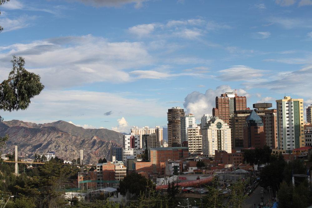 The La Paz skyline