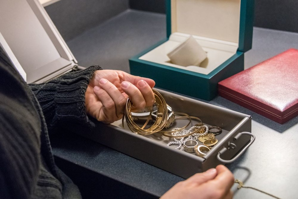 2. When you're not wearing it, lock it up. - A highly secured bank vault of course is the safest but if your wearing your jewelry often just make sure when you take it off for the night or for the day you place it in a secured vault.