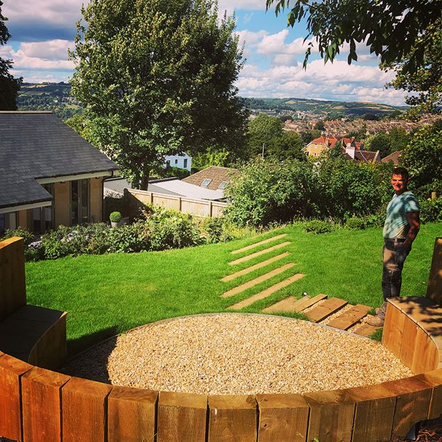 Revisiting one of our sites from earlier this year. All looking very lush! #landscaper #sun #bath