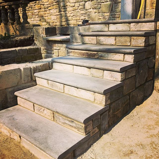 STEPS. Exciting times as our new steps and paving have arrived on site. This will transform one of our latest gardens.