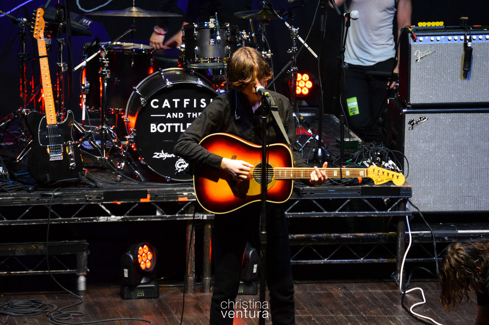 Van McCann, Catfish & The Bottlemen at soundcheck. 16 June 2015