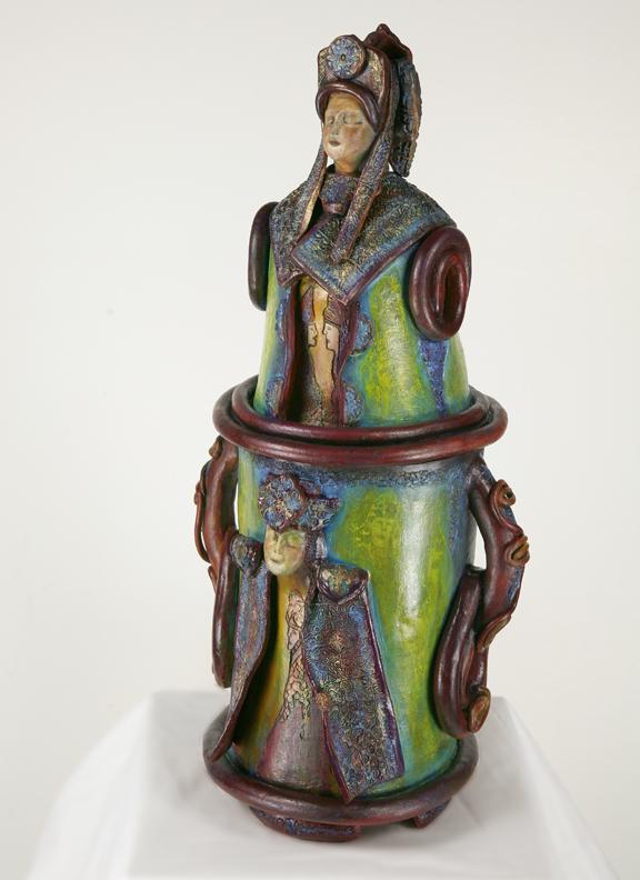 One of Erika's Hand-Built Sculptures
