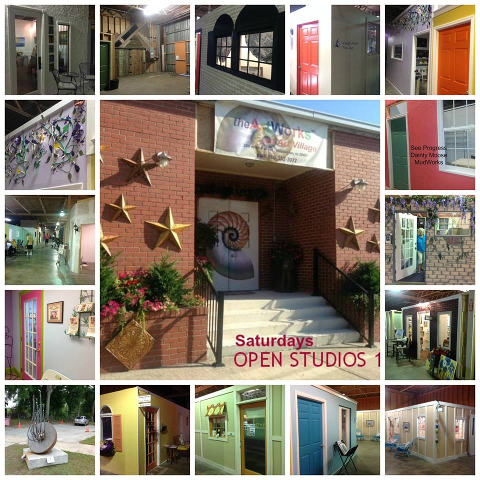 SATURDAY-Artists' OPEN STUDIOS 10am-3pm, @ theArtWorks LOCAL artists on site opening their private studios to the public to experience or purchase art. Fine Art, Jewelry, Pottery, Sculptures, Glass, Original Art CARDS & gifts, and Photography.   The ArtWorks is planned art village providing art studios, gallery space, and an event venue-- fostering a creative environment for artists, educational opportunities, and enhancement of the Wilmington community. Once part of the original Block Shirt factory, theArtWorks on Willard Street, is central to the developing district between South Front Street and Third Street, now known as the Cape Fear Historic Byway. Near Greenfield Lake.    https://www.facebook.com/TheArtWorksWilmington