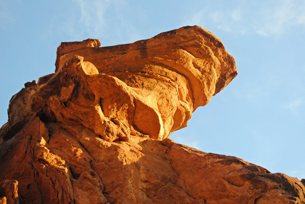 Rock formations at sunrise