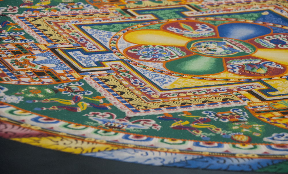 The Sand Mandala before its deconstruction
