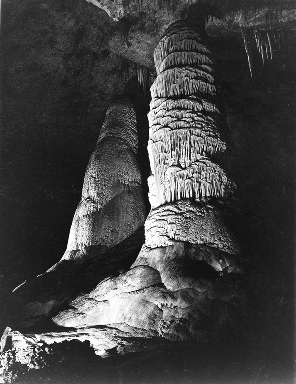 Formations in Carlsbad photographed by Ansel Adams, 1930s-1940s