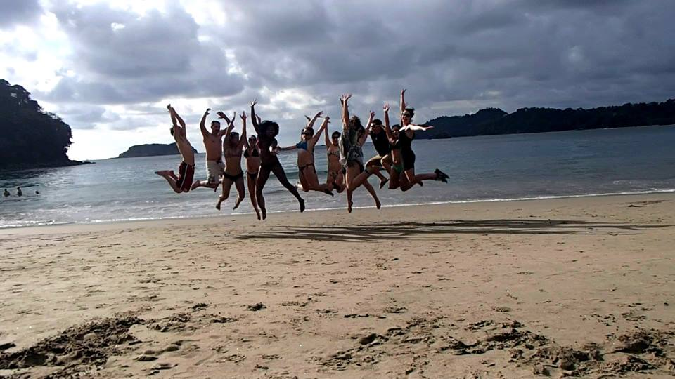 Jumping for joy in Costa Rica