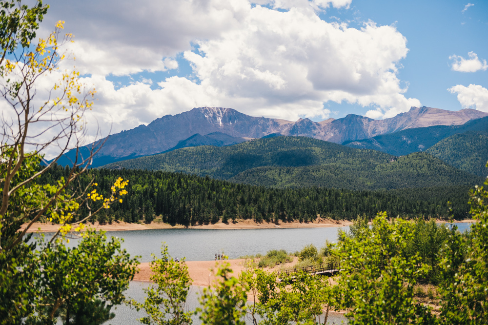 Pikes Peak National Forest from the Crystal Creek Resevoir