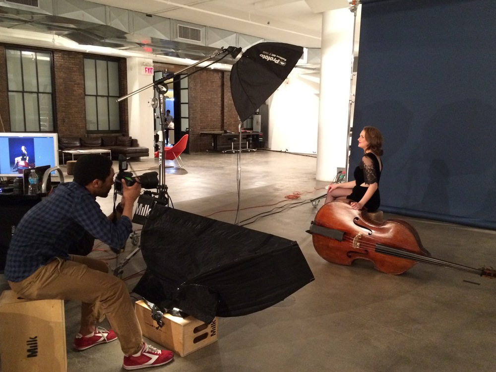 Me, photographing the incredibly talented/hilarious Kate Davis