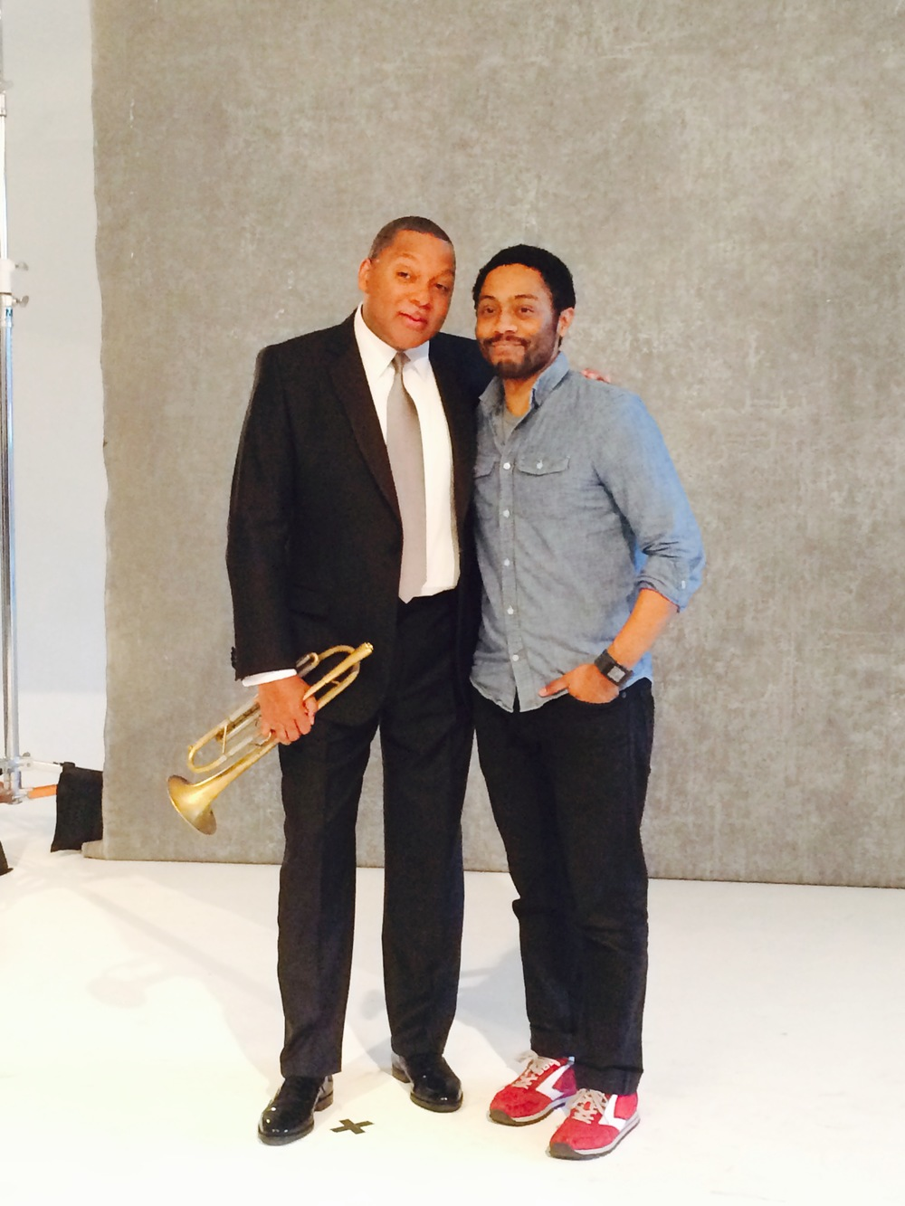 A photo with the man, himself, Wynton Marsalis