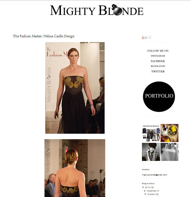 Mighty Blonde. October 2013.