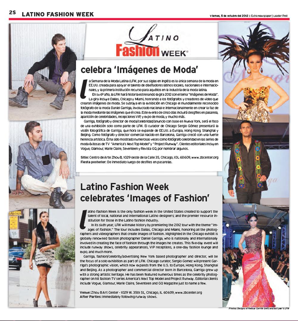 Hoy Newspaper. October 2012.